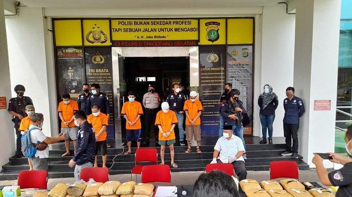 Polres Tangerang Selatan Tangkap 2 Bandar Asal Bekasi, Amankan 10 Kilogram Narkotika