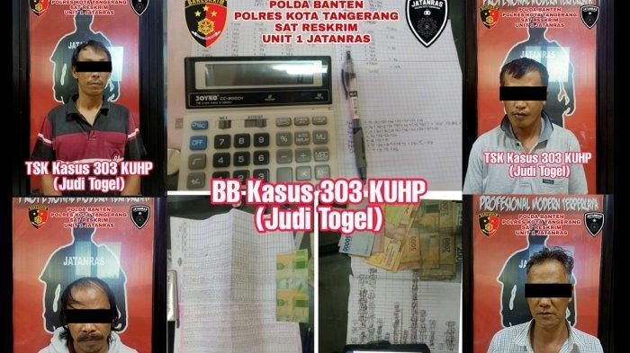 Polisi Ciduk Pengecer Judi Togel Hongkong dan Singapura di Kabupaten Tangerang