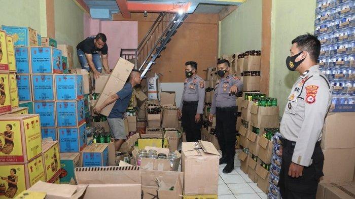 Polresta Tangerang Amankan 1.900 Botol Miras Dalam Operasi Cipta Kondisi