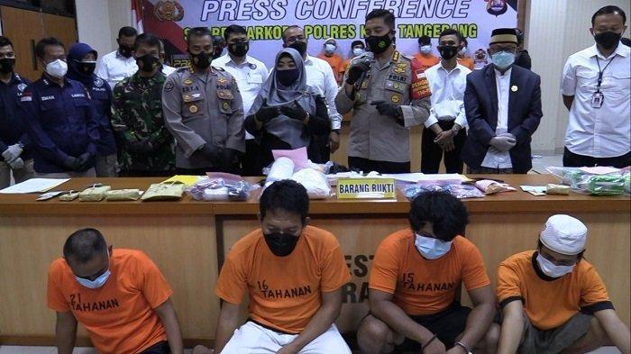 Polisi Tangkap Oknum Kepala Desa di Kabupaten Tangerang saat Asyik Berpesta Sabu