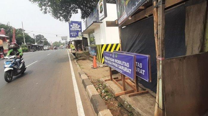 Polisi Buka Pos Penyekatan PPKM Darurat di Pamulang Setelah Pukul 10.00 WIB