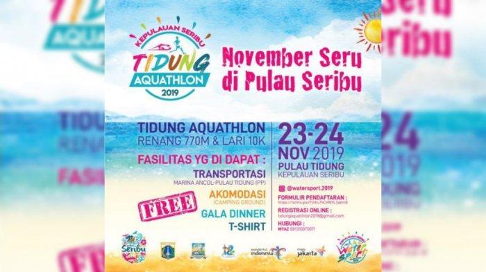 Akhir Pekan Ini, Ada Tidung Aquathlon 2019 di Pulau Tidung