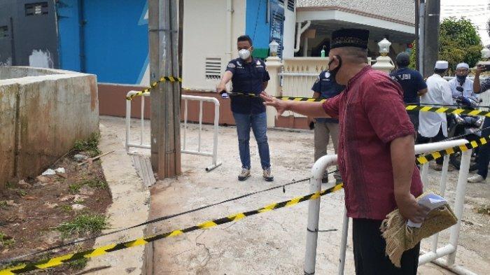 Area penemuan potongan kaki di Jalan Japos samping Masjid Jami' An Ni'mah, Perumahan Japos Graha Lestari, Kelurahan Jurang Mangu Barat, Kecamatan Pondok Aren, Tangerang Selatan (Tangsel), Jumat (19/3/2021).