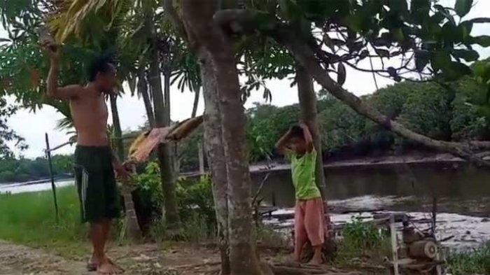 Potongan video ayah di Tanjung Jabung Timur aniaya anak.