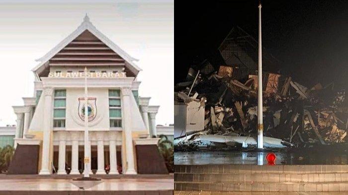Gempa Majene Buat Kantor Gubernur Sulbar Ambruk, Begini Kondisi 2 Warga Terjebak di Reruntuhan Puing