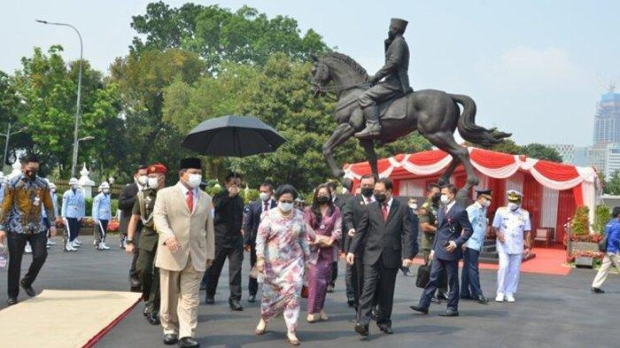Momen Istimewa Pertemuan Dua Sahabat, Megawati dan Prabowo Saat Meresmikan Patung Bung Karno