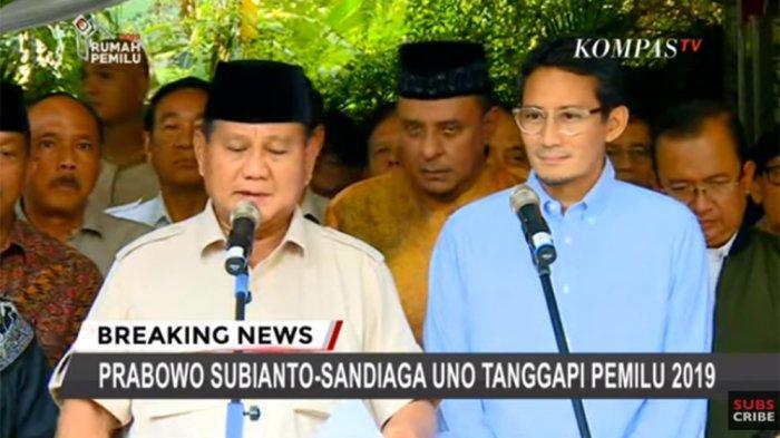 Prabowo dan Sandiaga Dipastikan Tidak Hadir Saat Sidang Putusan Sengketa Pilpres di MK