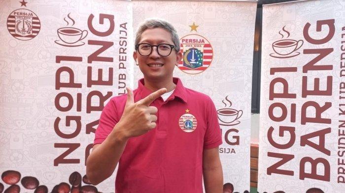 Presiden klub Persija Jakarta, Mohamad Prapanca saat ditemui usai memperkenalkan pelatih anyar Persija, Angelo Alessio di Hotel Monopoli, Kemang, Jakarta, Kamis (10/6/2021),