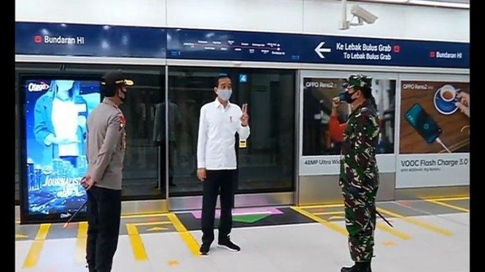 Ini Pesan Presiden Jokowi saat Kunjungan ke Stasiun MRT Bundaran HI