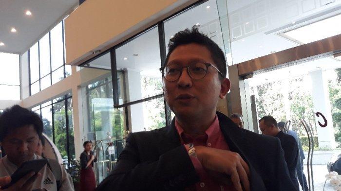 Presiden klub Persija Jakarta, Mohamad Prapanca saat ditemui di acara manager meeting di Hotel Atlet Century, Jakarta Pusat, Rabu (19/2/2020).