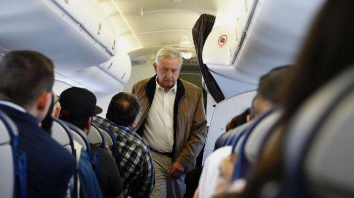 Presiden Meksiko Pilih Naik Pesawat Ekonomi Ketimbang VIP, Buat Pramugari dan Polisi Pusing