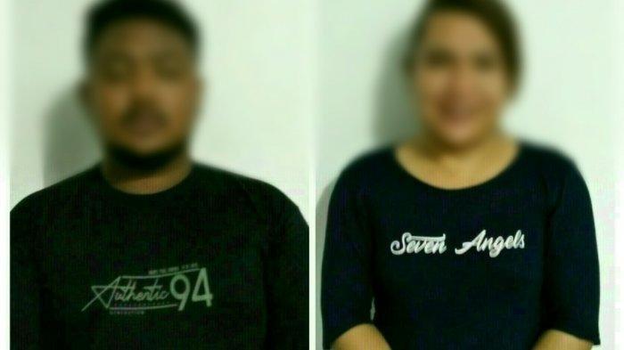 Pria AZ (23) dan waria MH alias Vira (31) yang digerebek petugas Satpol PP dan WH Kota Banda Aceh dari sebuah salon di kawasan Jalan Teuku Umar, Banda Aceh, Jumat (4/6/2021).