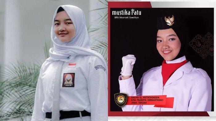 Ini Profil Salma El Mutafaqqiha Pembawa Baki Bendera Merah Putih Saat Upacara HUT ke-74 RI