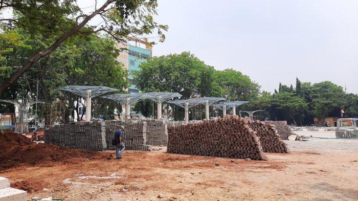 Melihat Pembangunan Alun-alun Kota Bekasi, Progres Mencapai 50%