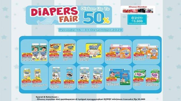 Promo Diapers Fair Alfamart 16-31 Desember 2020.