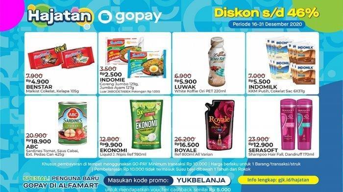 Promo Hajatan Gopay Alfamart 16-31 Desember 2020.