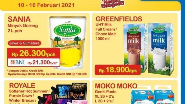 Promo Heboh Indomaret hingga 16 Februari 2021, Minyak Goreng 2L Rp21.300, Diskon Susu dan Softener
