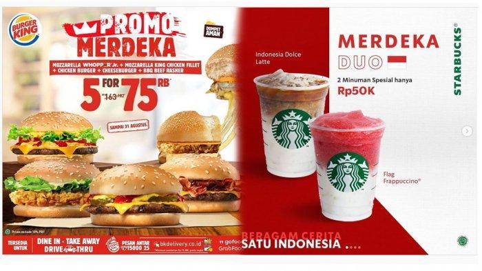7 Daftar Promo HUT Kemerdekaan ke-75 RI,  Ada JCO hingga Starbucks: Jangan Sampai Ketinggalan!