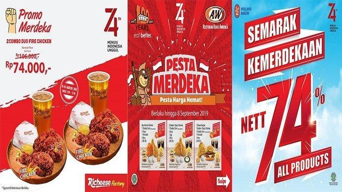 Deretan Diskon Sambut HUT ke-74 Kemerdekaan RI, Pizza Hut, Burger King, hingga J.CO Indonesia