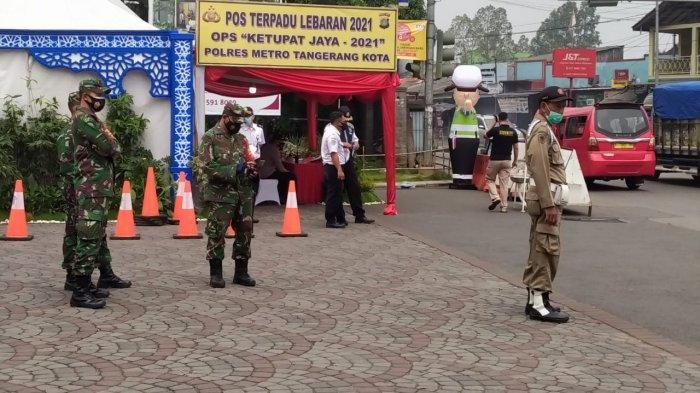 Hari Pertama Larangan Mudik, Penyekatan Pemudik di Tangerang Dijaga Ketat