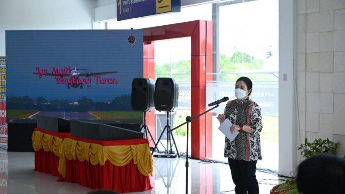 Resmikan Bandara Taufiq Kiemas, Puan: Semoga Juga Ikut Menjaga Semangat Kebangsaan Almarhum