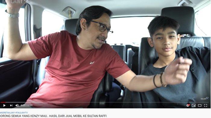 Kenzy Murung Mobil Dibeli Raffi Ahmad, Andre Taulany Hibur Sang Anak Habiskan Uang Jutaan Rupiah
