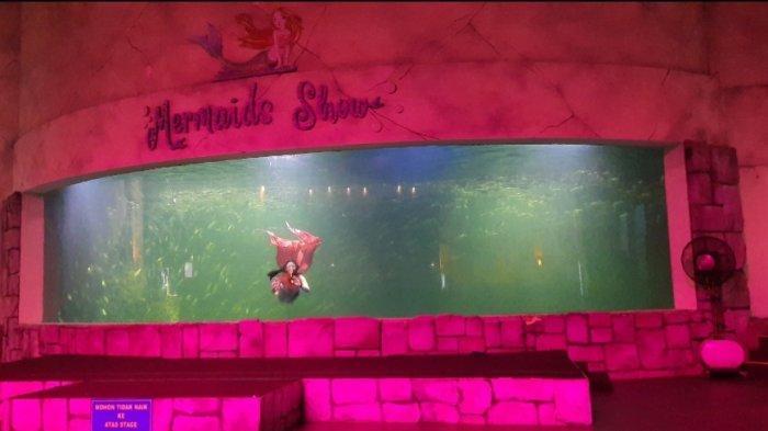 Seorang putri duyung cantik yang akan menyapa para traveller lewat pertunjukan bawah air di Ocean Dream Samudra Ancol.