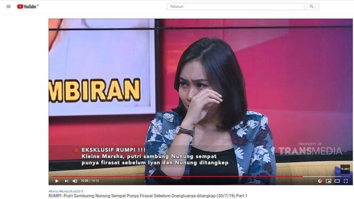 Rindu Iyan Sambiran, Putri Sambung Nunung Menangis Ingin Tanya Ini: Papah Mamah Pisah dari Aku Bayi
