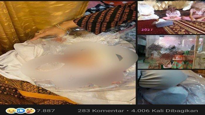Unggahan akun Facebook Erlita Dewi, warga Kelurahan Kampung Salo, Kecamatan Kendari, Kota Kendari, Provinsi Sulawesi Tenggara (Sultra) curhat tentang putrinya Agita Putri. Erlita Dewi mencium jenazah putrinya untuk terakhir kali setelah berpisah selama 3 tahun.