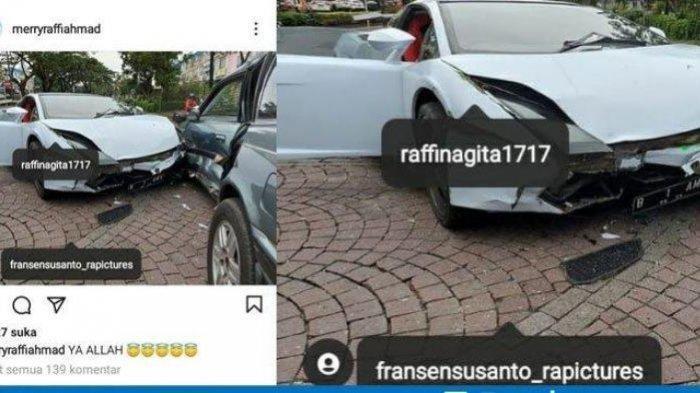 Asistennya Unggah Foto Lamborghini Ringsek, Raffi Ahmad Tak Tahu Menahu: Bukan Mobil Gue Kali