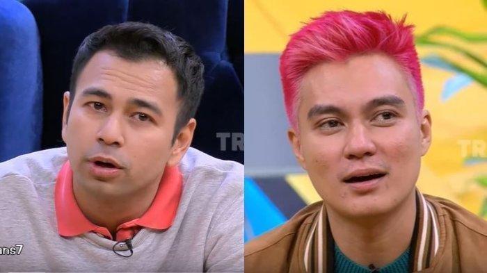 Raffi Ahmad dan Baim Wong menangis di acara Okay Bos Trans7 yang dipandu oleh Raffi Ahmad edisi Minggu, (4/8/2019).