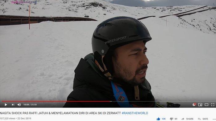 Raffi Ahmad Terperosok ke Dalam Salju saat Main Ski di Swiss, Suami Nagita: Salah Sedikit Mati