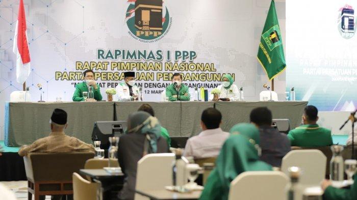Partai Persatuan Pembangunan (PPP) telah menggelar Rapat Pimpinan Nasional (Rapimnas) I di Hotel Pullman, Jakarta pada 12-13 Maret 2021.