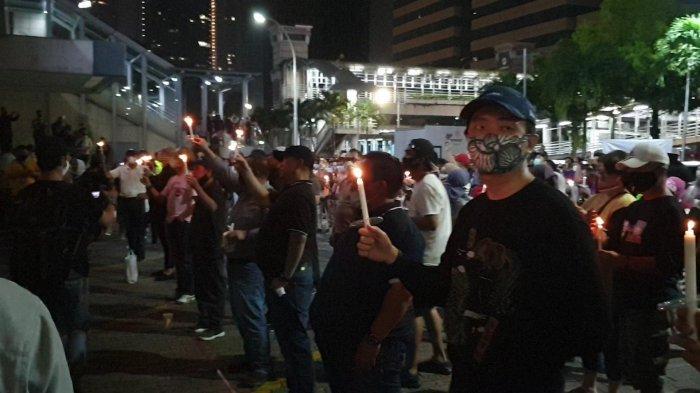 Ratusan Orang Saksikan McD Ditutup Saat PSBB, Koalisi Pejalan Kaki: SemogaTak Ada Cluster Sarinah