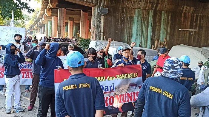 Ratusan Pemuda dan Pelajar Gelar Aksi Tolak PKI di Tanjung Priok