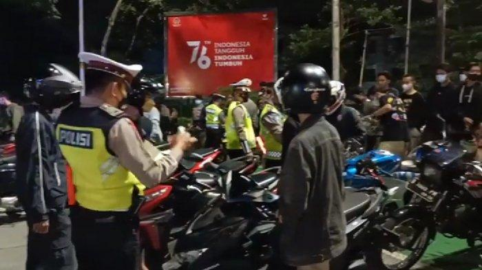 Crowd Free Night Jumat Malam, Polisi Tindak 266 Pemotor yang Pakai Knalpot Bising