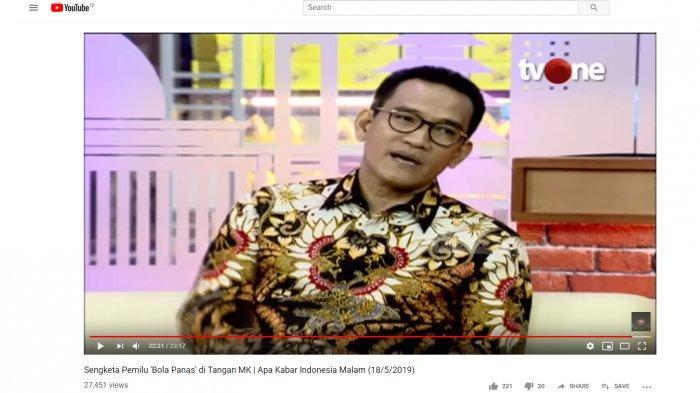 Tanggapi Kabar BPN Enggan Gugat Hasil Pilpres 2019 ke MK, Refly Harun Singgung Beda Omongan dan Data