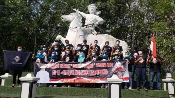 Relawan GPID Deklarasi Dukung Ganjar Pranowo Jadi Kandidat Calon Presiden di Perbatasan Jateng-Jabar