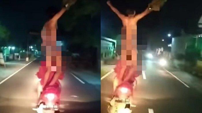 Viral Video Remaja Berdiri di Atas Motor Sambil Pamer Kelamin, Temannya Cuma Merekam sambil Tertawa