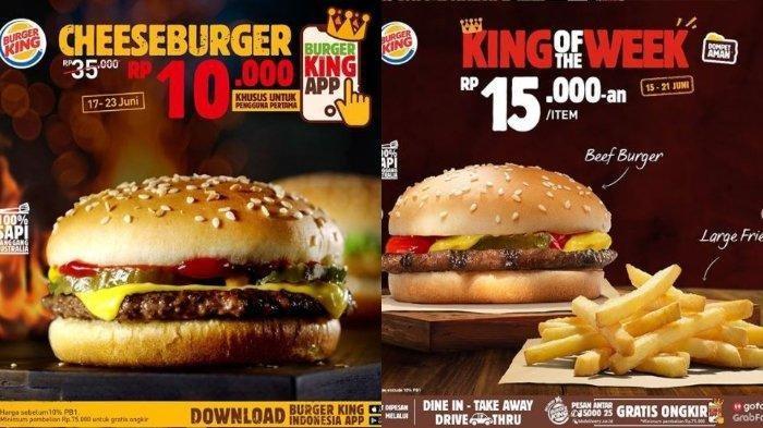 Burger King Promo King Cheeseburger Hanya Rp 10 Ribu, Bisa Pesan Lewat Aplikasi BK Indonesia
