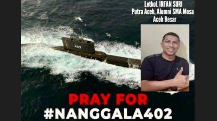 Tangkapan layar status WA Reza Adriazal, kawan akrab Letkol Laut (E) Irfan Suri, putra terbaik Aceh yang berada dalam kapal selam KRI Nanggala 402 kapal.