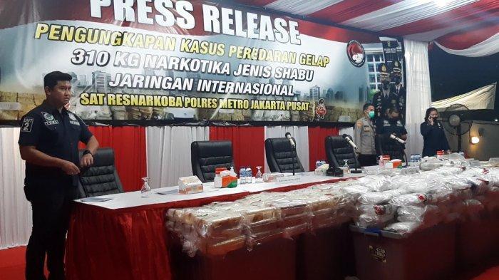 Polres Metro Jakarta Pusat Amankan 310 Kilogram Narkoba, Pabriknya di Iran