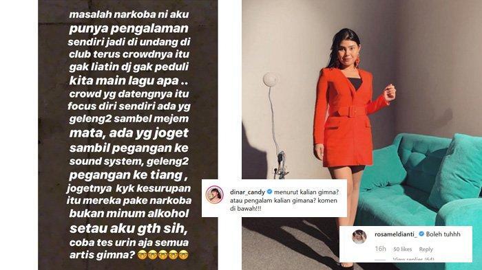 Dinar Candy Unggah Tulisan Soal Artis Tes Urin, Komentar Rosa Meldianti Tuai Perhatian