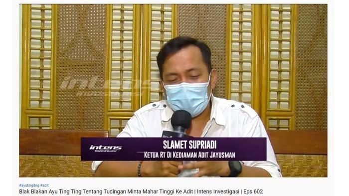 Ketua RT tempat Aditya Jayusman buka suara soal pernikahan warganya dengan Ayu Ting Ting yang batal terlaksana.