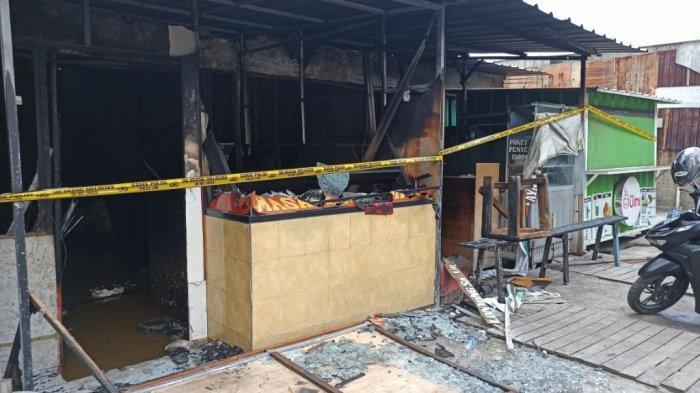Lokasi rumah makan Padang yang terbakar di Jalan Kramat Raya, Blok B, RT 01/RW 008, Kelurahan Tugu Utara, Koja, Jakarta Utara, Selasa (29/12/2020).