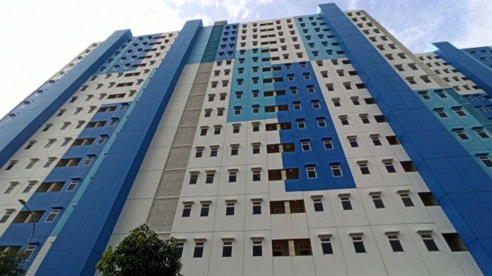 Rusun Nagrak di Kelurahan Marunda, Cilincing, Jakarta Utara, yang menjadi tempat isolasi mandiri pasien Covid-19.