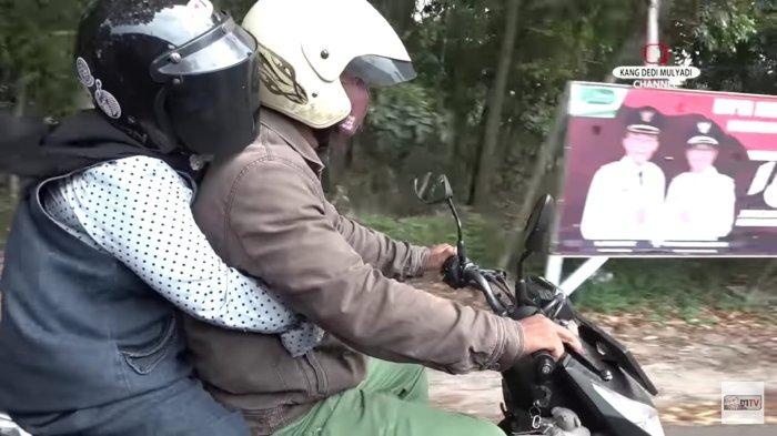 Romansa Kisah Cinta Hansip Sabel Teman SD Kang Dedi, Boncengan Motor Borong Kebutuhan untuk Lamaran