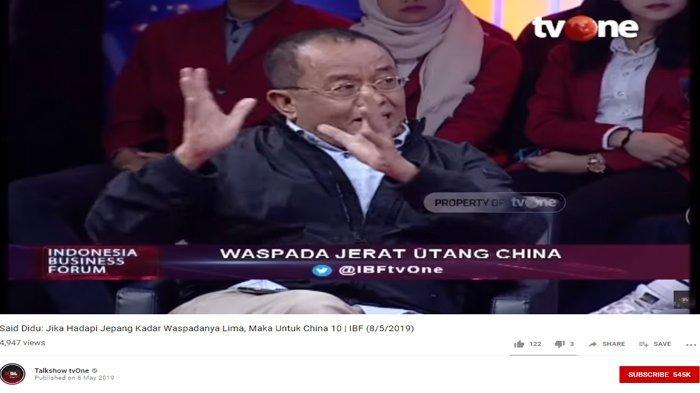 Harap Indonesia Waspada Utang ke China, Said Didu Beberkan Nasib Malang 3 Negara Ini: Terbukti