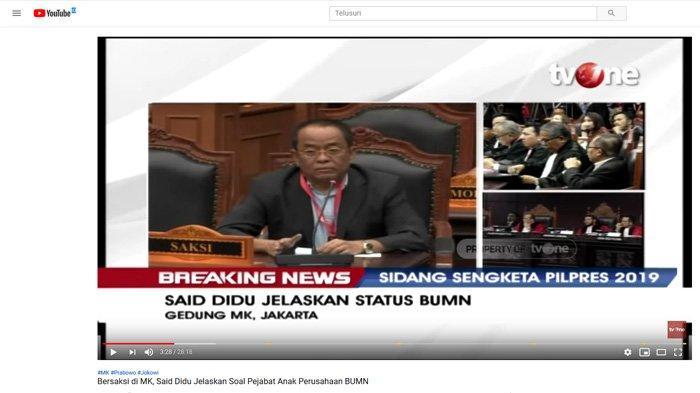 Sebut Said Didu Saksi Invalid, TKN Beberkan Alasan: Jokowi & Maruf Pertimbangkan untuk Lapor Polisi