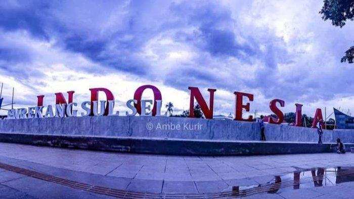 Salah satu spot foto di anjungan wisata Sungai Mata Allo, Kelurahan Galonta, Kecamatan Enrekang